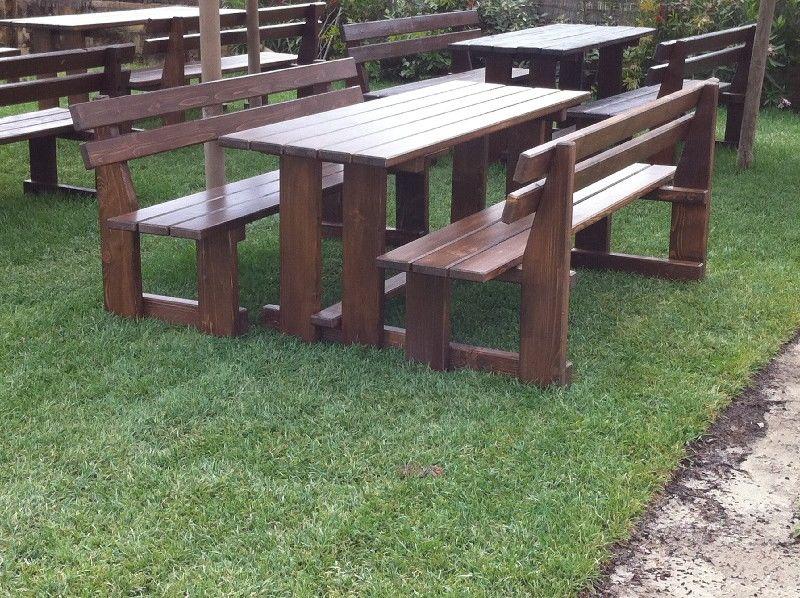 Panche da esterno con tavoli falegnameria carpenteria di for Panche contenitori da esterno